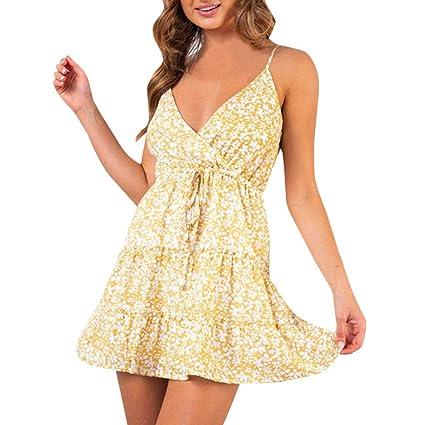 Wave166 Vestido,2019 Primavera y Verano Vestido de Las señoras ...