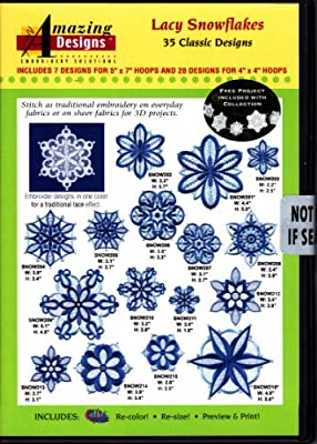 Amazing Designs Lacy Snowflakes Machine Embroidery Designs
