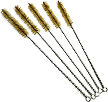 Hengzhe Brass Wire Brush Set Wire Brush for Cleaning Welding Slag and Rust Brass10 pcs