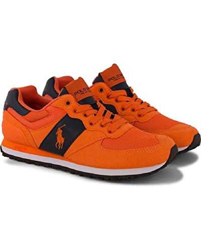 Polo Ralph Lauren Men\u0027s Slaton Pony Fashion Sneaker, Orange/Navy, ...