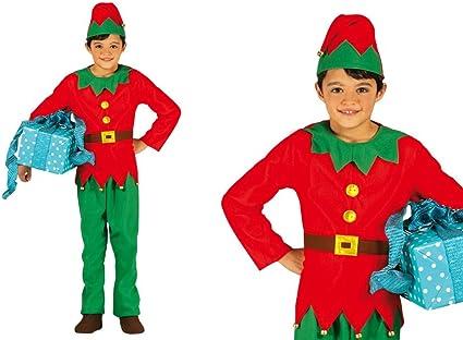 GUIRMA Elfo Disfraz de niña pequeña elfa de Santa Claus: Amazon.es ...