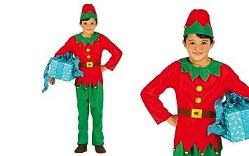 GUIRMA Elfo Disfraz de niña pequeña elfa de Santa Claus