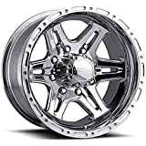 "Ultra Wheel 208P Badlands Silver Wheel with Polished Finish  (16x8""/8x6.5mm, +10 mm offset)"