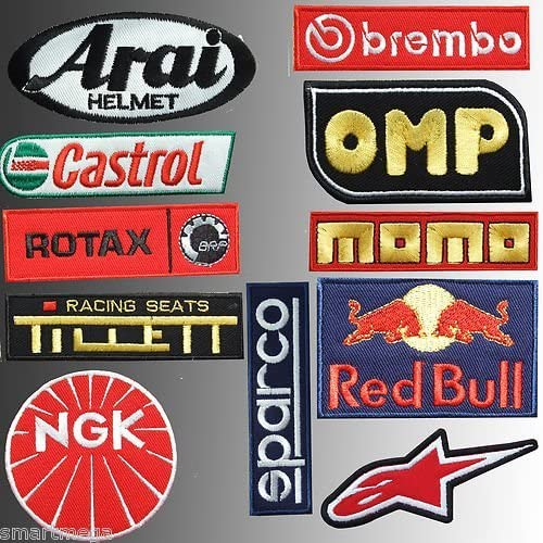 NGK Motorsport Applique embroidery /Écusson brod/é Costume Cadeau- Give Away Car Motorbike Racing Car Team Patches Iron on Patch