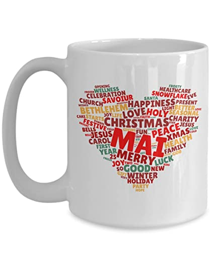 mai christmas mugs gifts cute 16oz ceramic original design on christmas color tone for men