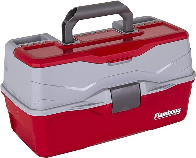 Flambeau Outdoor Flambeau Classic - Caja de 3 bandejas para aparejos, color rojo: Amazon.es: Deportes y aire libre