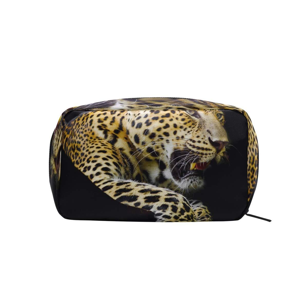Leopard Pattern Print Makeup Case Cosmetic Bag