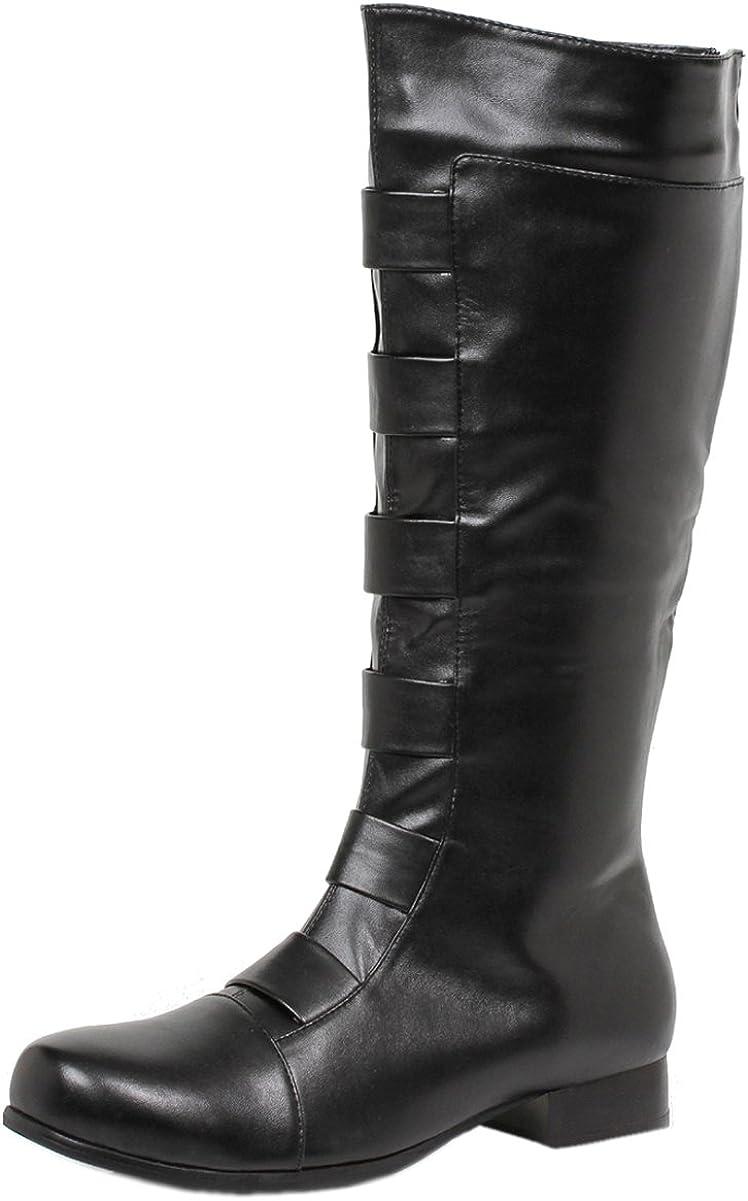 Men/'s Size 1 Inch Heel Knee High Boots