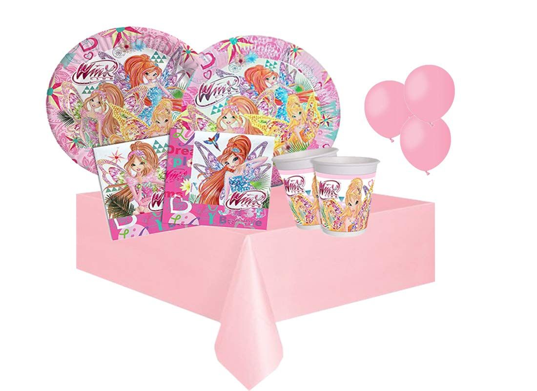 BBS IRPot - Kit N8 Coordinato Compleanno Bambina Winx Club BUTTERFLIX