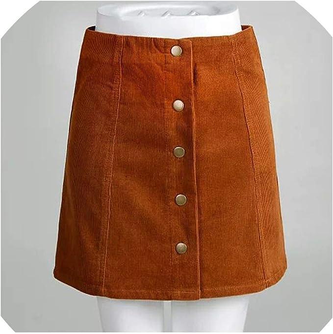Mini Falda de Pana para Mujer, Falda Negra, Falda de Pana, Falda ...