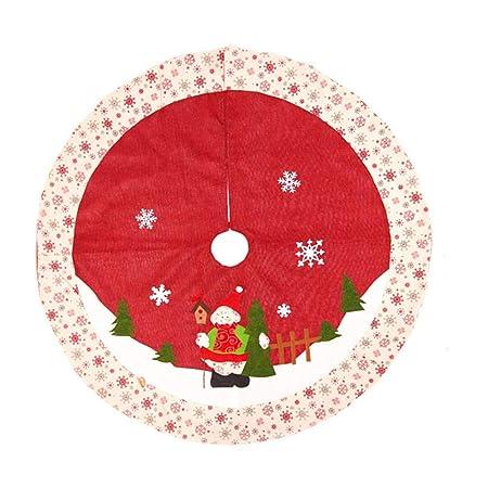 Fmissyao Falda de árbol de Navidad, Tejida, Faldas para decoración ...