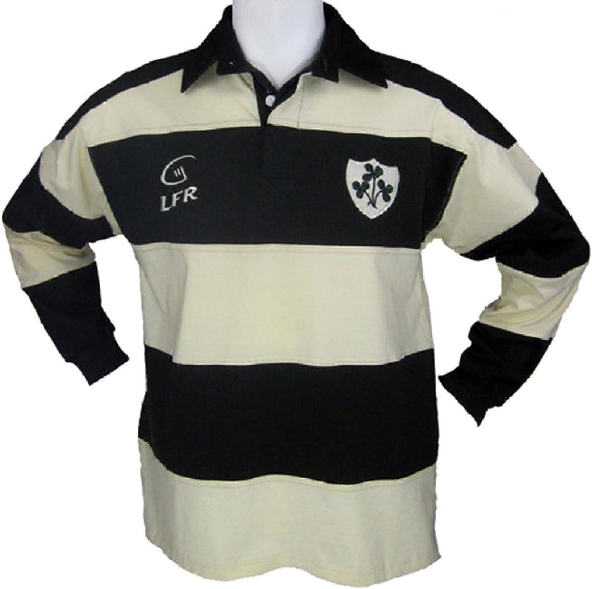 Irlanda Trébol bordado camisa de Rugby de manga larga blanco Cream/Olive XXL: Amazon.es: Ropa y accesorios