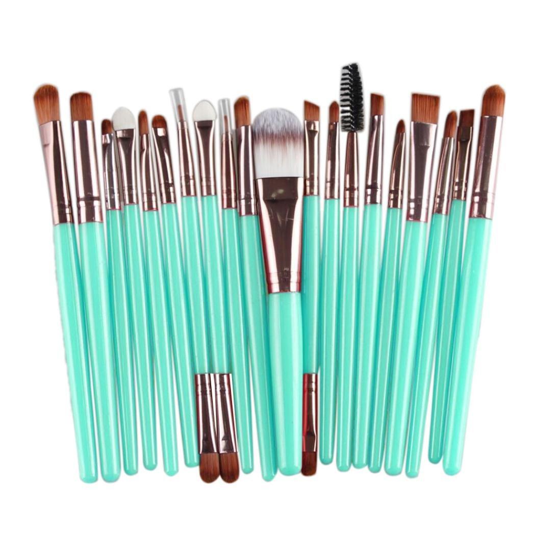 20 pcs Makeup Brush Set tools.