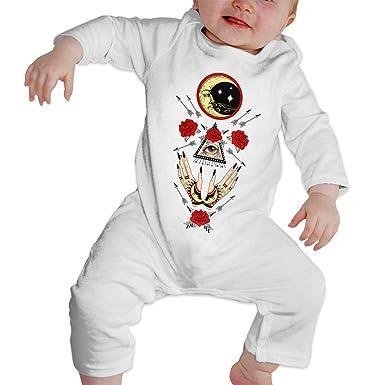 8edf44e91 Amazon.com  Maliin Baby Boys Girls Bodysuit Freemason Logo Red Rose ...