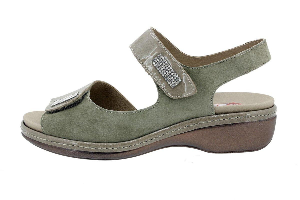PieSanto Sandale mit Herausnehmbarem Fuszlig;bett 180818 Komfort Damenlederschuh  42 EU|Charol Vis贸n
