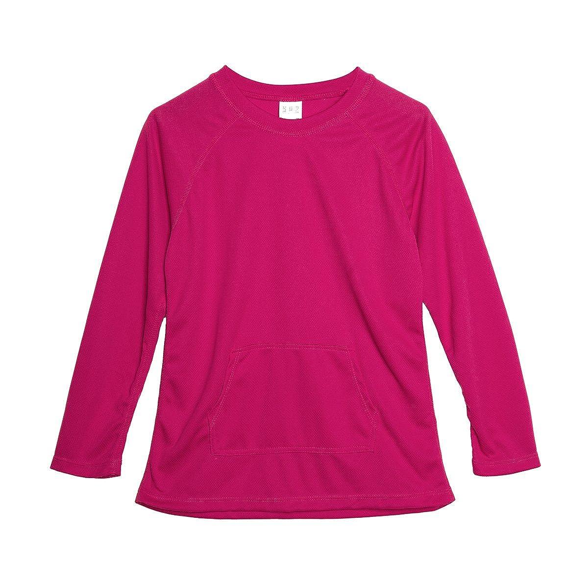 beautyin Boys Girls Long Sleeve Swim Shirt Athletic Solid Rashguard UPF Sun Protection