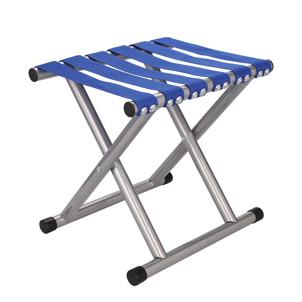 QCHOMEE Folding Chair Folding Stool Camping Foldable Garden Chair Comfort Fishing Stool Folding Chair Collapsible Camping Stool Mini Portable Stool Outdoor stool for camping, fishing, travel or beach