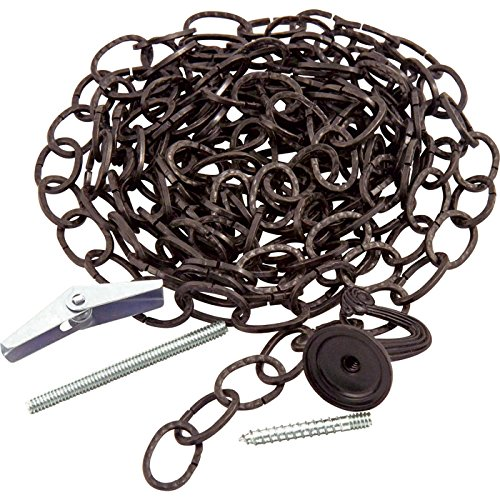 [Decorative Hammered Chain - 10Ft.L, Black] (Hammered Oval Links Toggle)