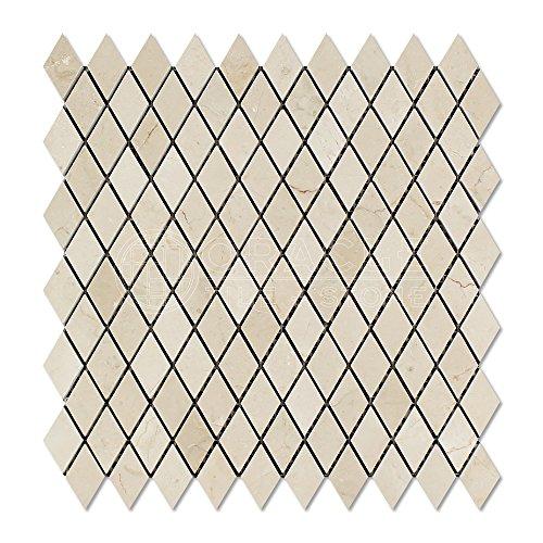 Crema Marfil Spanish Marble Diamond - Rhomboid Mosaic Tile, Polished