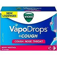 Vicks VapoDrops +COUGH Berry Menthol lozenges, 16ct