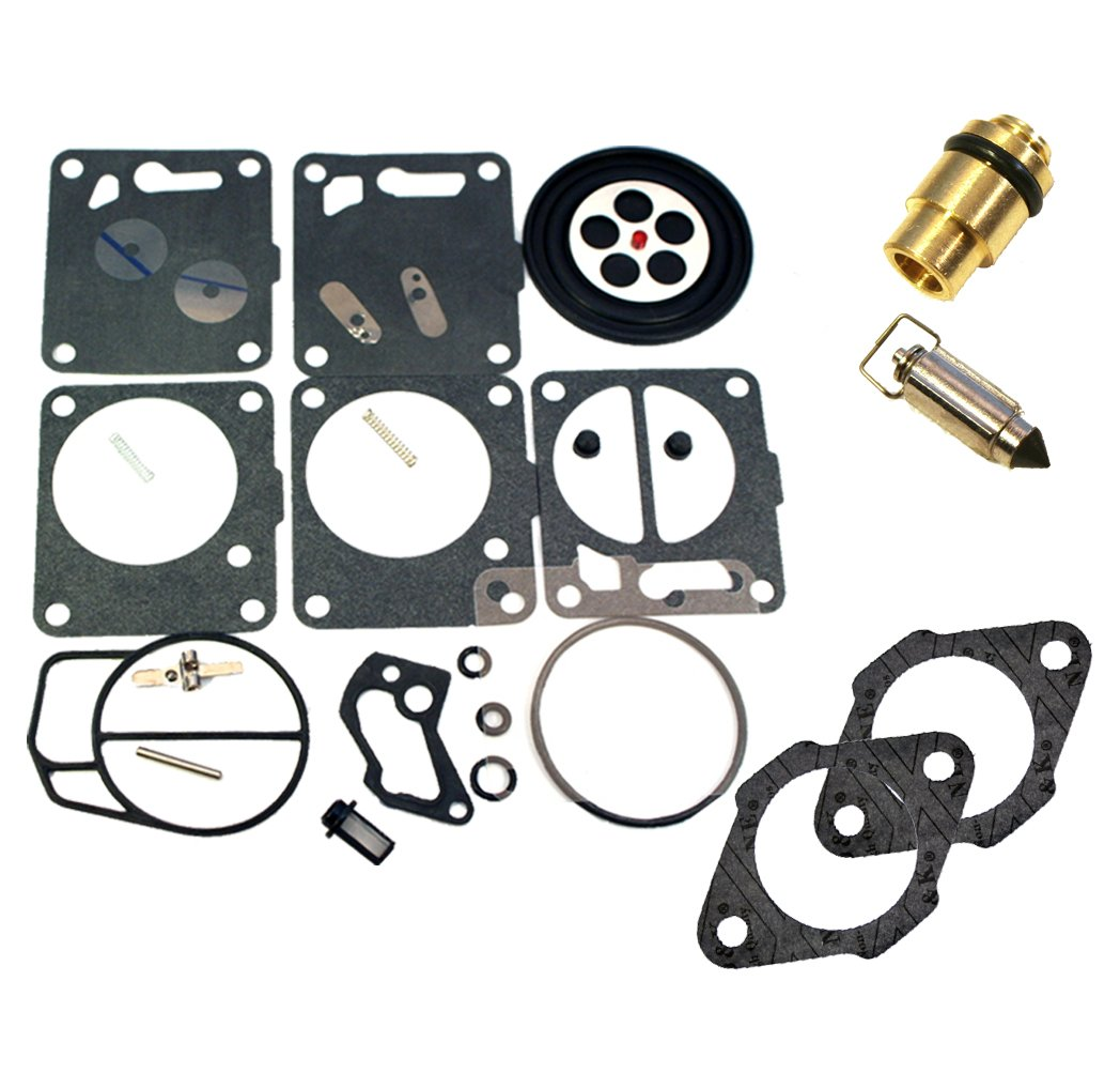 (Compatible With Yamaha) Mikuni Carburetor Rebuild Kit-Needle/Seat Base  Gasket Fits MANY Wave Runner III Raider VXR GP 700 701 650