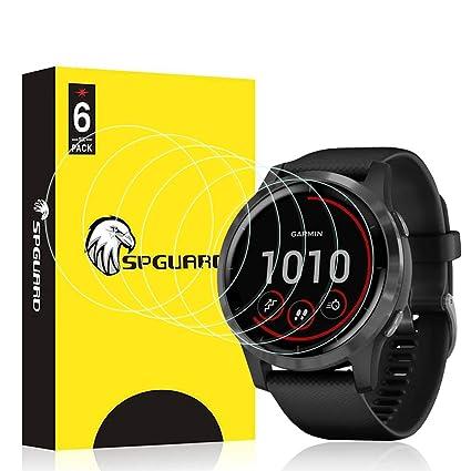 HATALKIN Screen Protector Compatible with Garmin Vivoactive 4S Screen Protector 40mm Men Fitness Smartwatch HD LiQuidSkin Film[6 Pack]