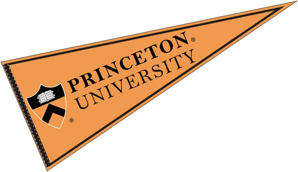 Amazon Com College Flags Banners Co Princeton Pennant Full Size Felt Sports Outdoors