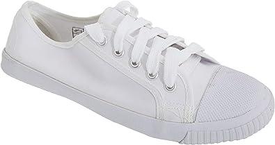 Dek Adults Unisex Lace White Canvas Plimsolls