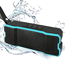 Bluetooth Speakers, Waterproof Speaker Portable Wireless with Subwoofer, Loud Stereo Speakers with 60 Days Standby for iPhone Samsung phones by Ayoki (Blue)