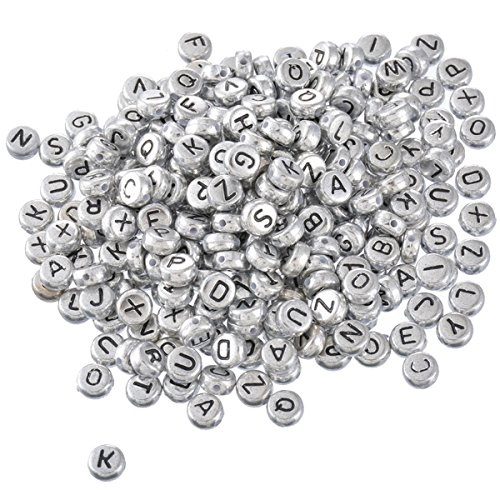 Yc 500pcs 7mm Mixed Acrylic Round Letter Beads Alphabet