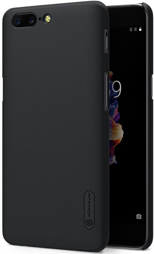 Nillkin Oneplus 5 A5000 Case Frosted Shield Matte Plastic Slim Fit Case Cover Shell (with Kickstand)