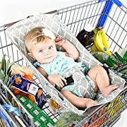 Olpchee Portable Baby Shopping Cart Hammock Bed Grocery Cart Cover for 0-6 Months Babies Free Your Hands (Gray)