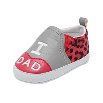 Age:3-6month, Gold HOT Sale,AIMTOPPY Newborn Baby Toddler Leopard Print Letter Anti-slip Soft Sole Casual Shoes