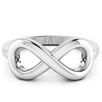 Amazoncom 925 Sterling Silver Infinity Symbol Ring Wedding Band