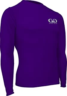 product image for HT-603L-CB Men's and Women's Athletic Compression, Long Sleeve Crew Neck Shirt-Used for Running, Softball, Football, Cross Training, and Gym Workouts (Medium, Purple)