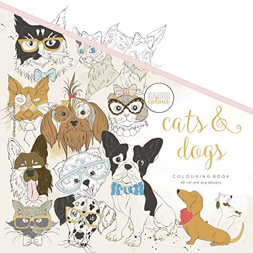 Kaisercraft Colouring Book Cats & Dogs, Paper White, 25 x 25 x 0.6 cm -