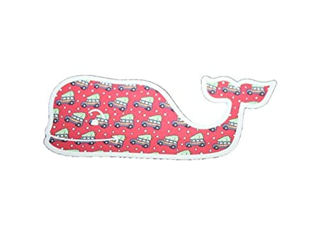 vineyard vines christmas tree and car whale sticker 45 x 2 authentic