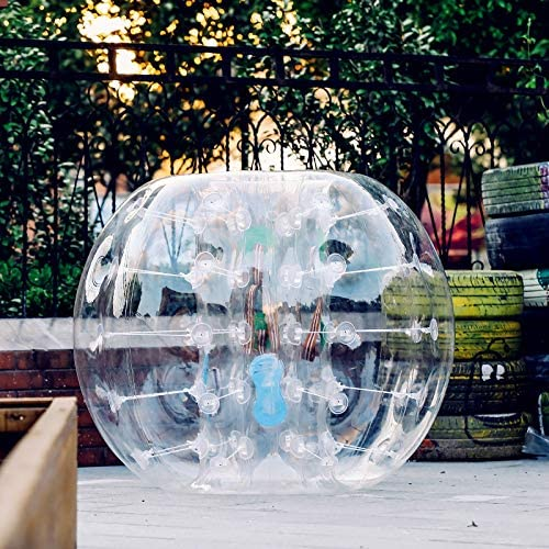 Popsport Inflatable Bumper Ball 4FT Bubble Soccer Ball 0.8mm Eco-Friendly PVC Zorb Ball Human Hamster Ball for Adults and Kids 4FT