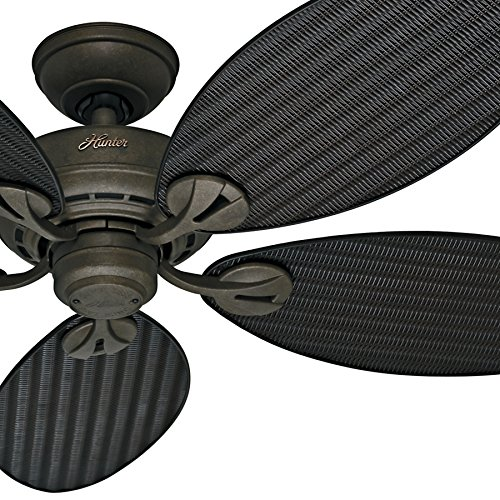 ceiling fan blades wicker - 5