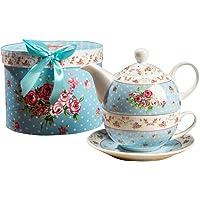 London Boutique - Tetera y Taza de Porcelana
