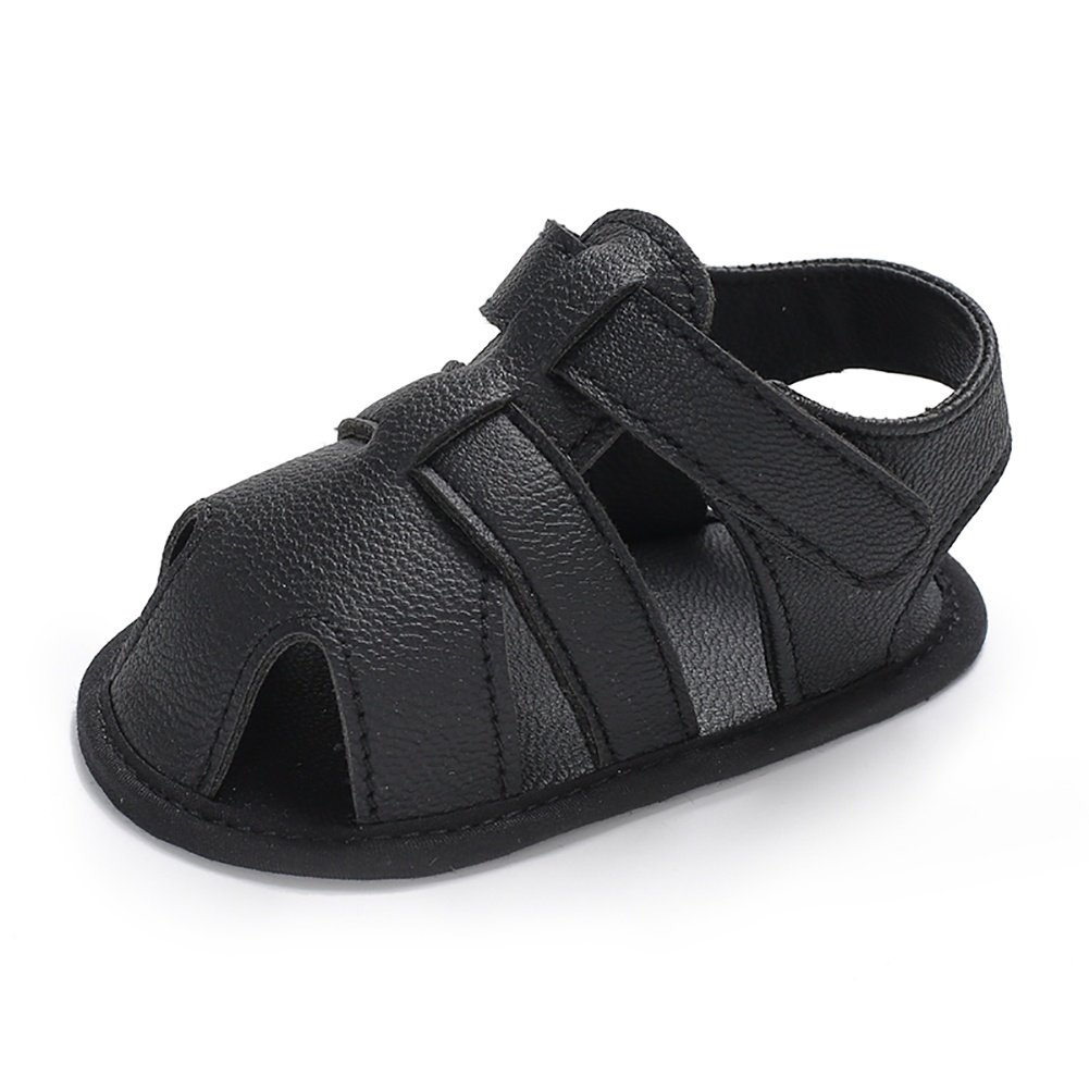 Wollanlily Baby Boy Rubber Sole Anti-Slip Outdoor Infant Toddler Summer Sandals First Walkers Shoes