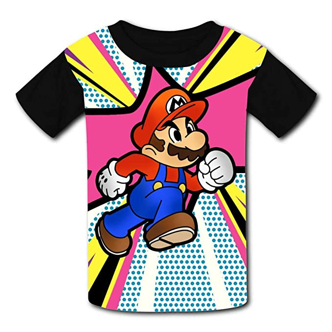 Fuxejin Kids T Shirt Super Ma-Rio Print Short Sleeves Shirt Top Tees for Girl Boy