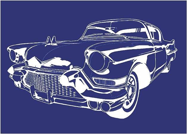 Schablone Classic Cars auf A4