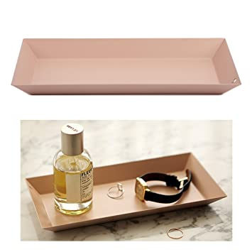 Amazoncom Cosmetic Vanity Tray Steel Storage Organizer Decorative