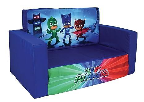 Fun House pyjamasques sofá Convertible para niños, poliéster, 65 x 40 x 39 cm