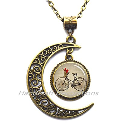 Bicycle pendant Bicycle necklace Bicycle jewelry,Gifts For Cyclists,Birthday Gift For Her -