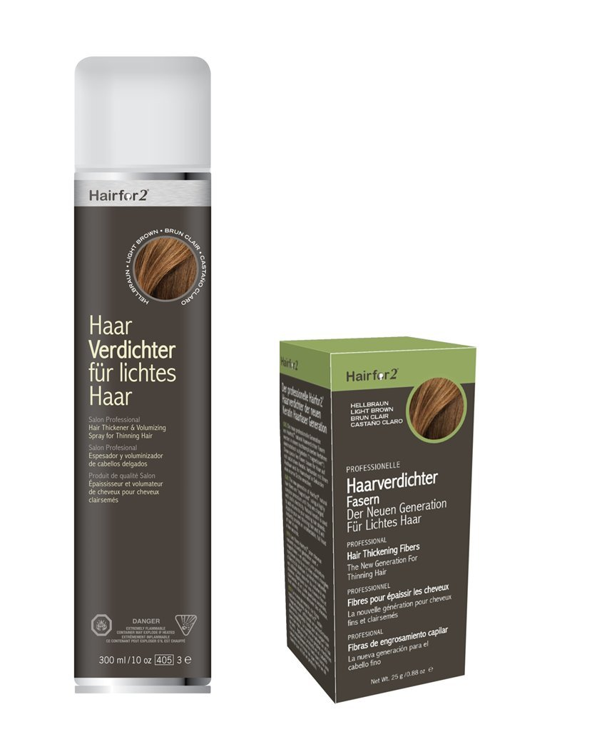 Nevera Pack: hairfor2 300 ml Spray + 25 g dispersa pelo: Amazon.es: Salud y cuidado personal