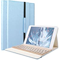 SENGBIRCH Tastatur Hülle Kompatibel iPad Air Case mit 7 Farbe Hintergrundbeleuchtung Ultra-dünn QWERTZ Bluetooth Tastatur und Auto Schlaf/Aufwach Funktion für Air 1, Pink