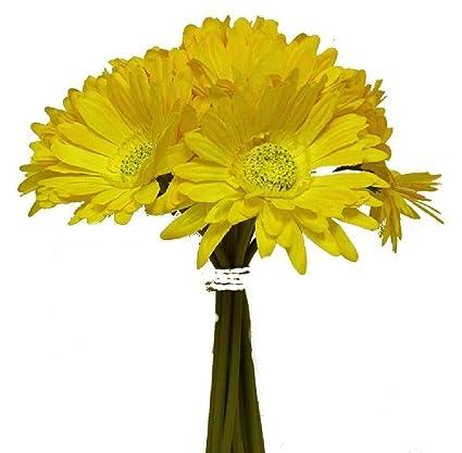 Amazon yellow gerbera daisy bouquet wedding arrangement silk yellow gerbera daisy bouquet wedding arrangement silk bridal flowers centerpiece mightylinksfo