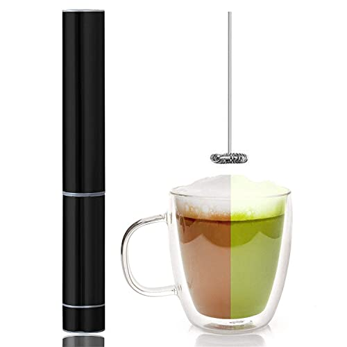 8. InstaCuppa Travel Milk Frother Handheld Battery Operated Electric Whisker, Foam Maker, Coffee Beater with Stainless Steel Travel Casing